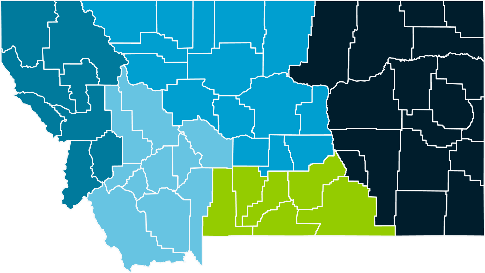 MCADSV Victim service programs by region map